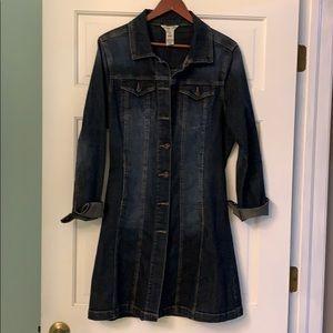 Longer length jean jacket